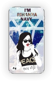 Riri Navy Cover to IPhone 4 and 4s White