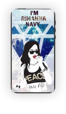 Riri Navy Cover to IPhone 4 and 4s Black