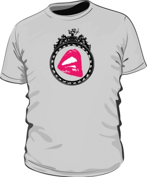 Koszulka motyw różowe usta