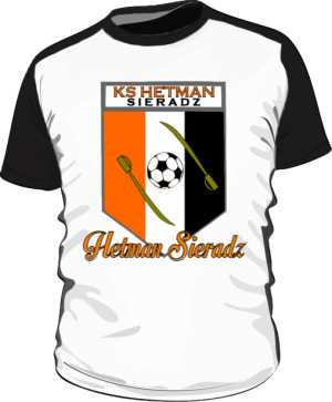 Koszulka kibica czarnobiała