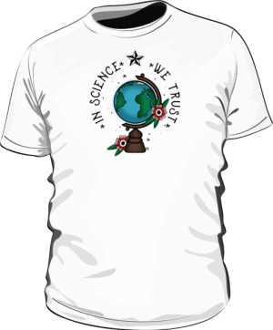 Koszulka z globusem męska