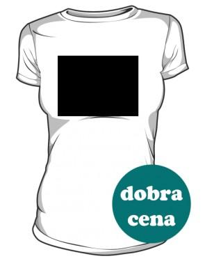 Autorska grafika na białej koszulce