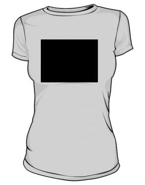 Autorska grafika na szarej koszulce