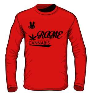 LONGSLEEVE RAME CANABIS RED