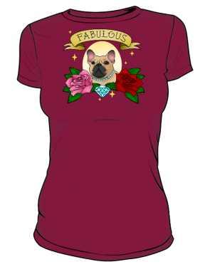 Koszulka fabulous frenchie damska
