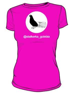 Stalkerka Gołębia koszulka damska