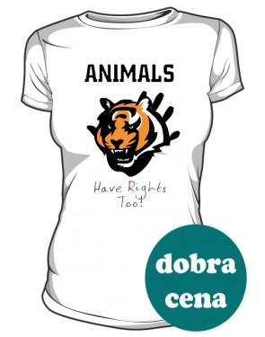 Koszulka Damska  Animals Rights