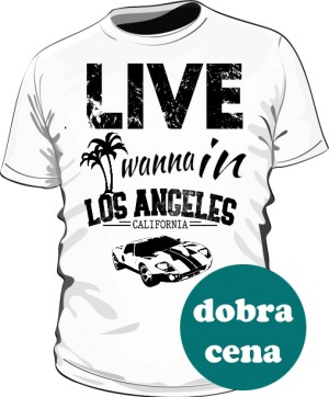 Koszulka Męska Biała California Life