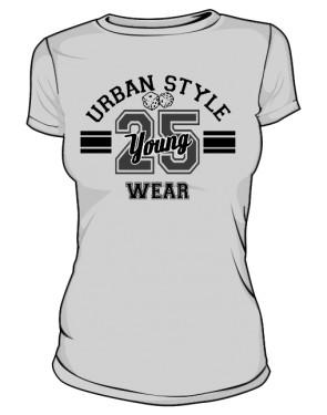 Szara Koszulka Damska Urban Style Wear
