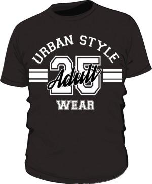 Koszulka Męska Urban Style Wear czarna