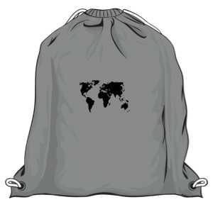 Worek z mapą świata