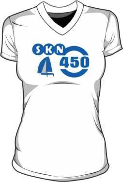 Koszulka V neck damksa SKN 450
