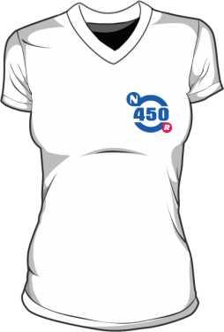 Koszulka V neck damska
