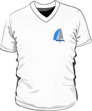Koszulka V neck męska Rysunek Jachtu
