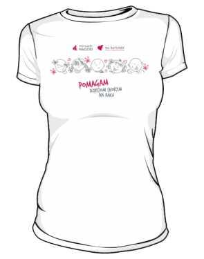 Koszulka damska Pomagam dzieciom
