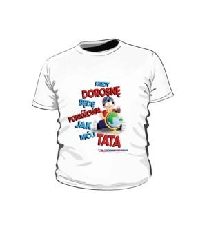 Koszulka dziecięca biała wzór 01