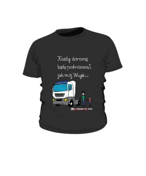 Koszulka dziecięca czarna wzór 04