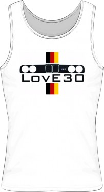 M3  LOVE30 WHITE TOP ROZBÓJNIK