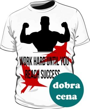 Work Hard Biała