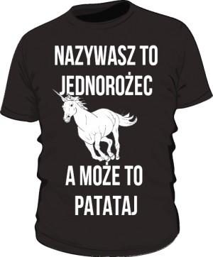 Koszulka patataj czarna Męska