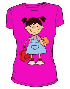 Koszulka szkolna damska