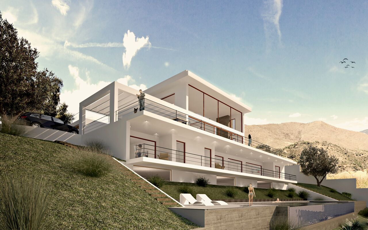 4 Bedroom contemporary villa for Sale in Elviria Hills |