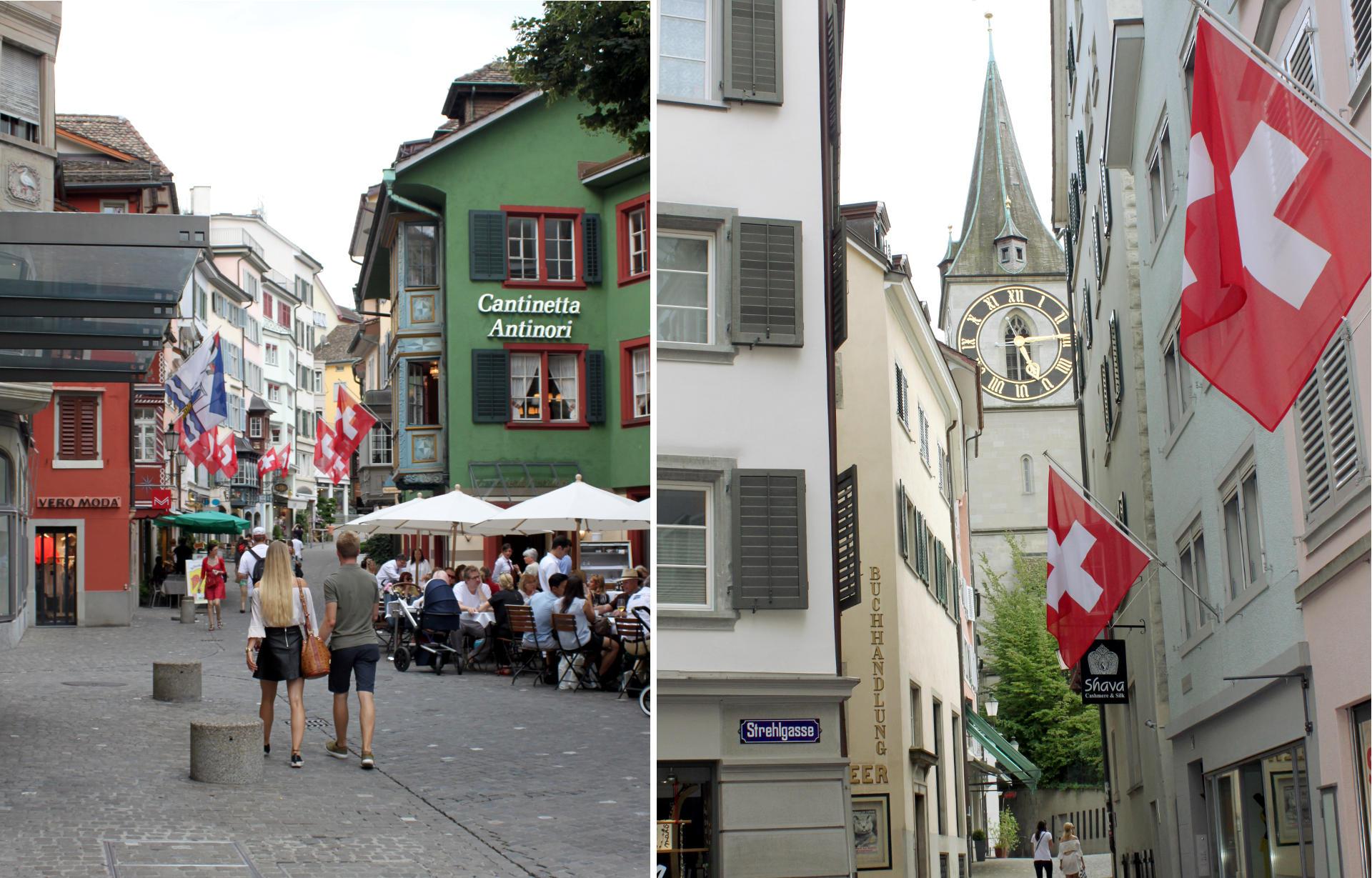 klimatyczne uliczki w Zurychu iglawpodrozy