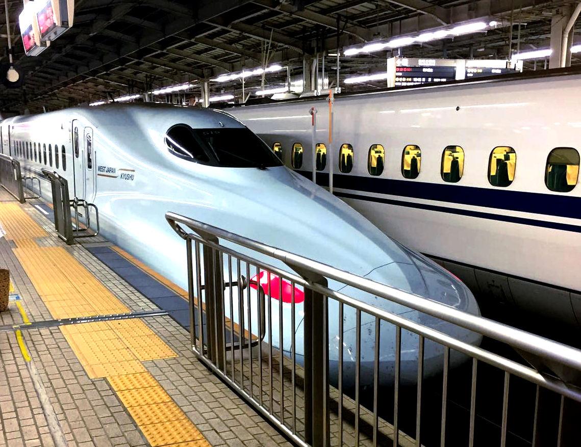 japonia pociag shinkansen peron iglawpodrozy
