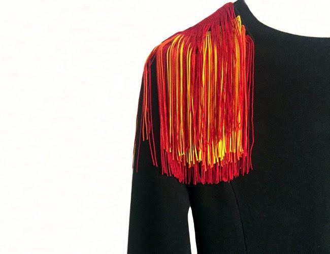 szycie igla szyje sukienka papuga ozdoba frędzelki iglawpodrozy