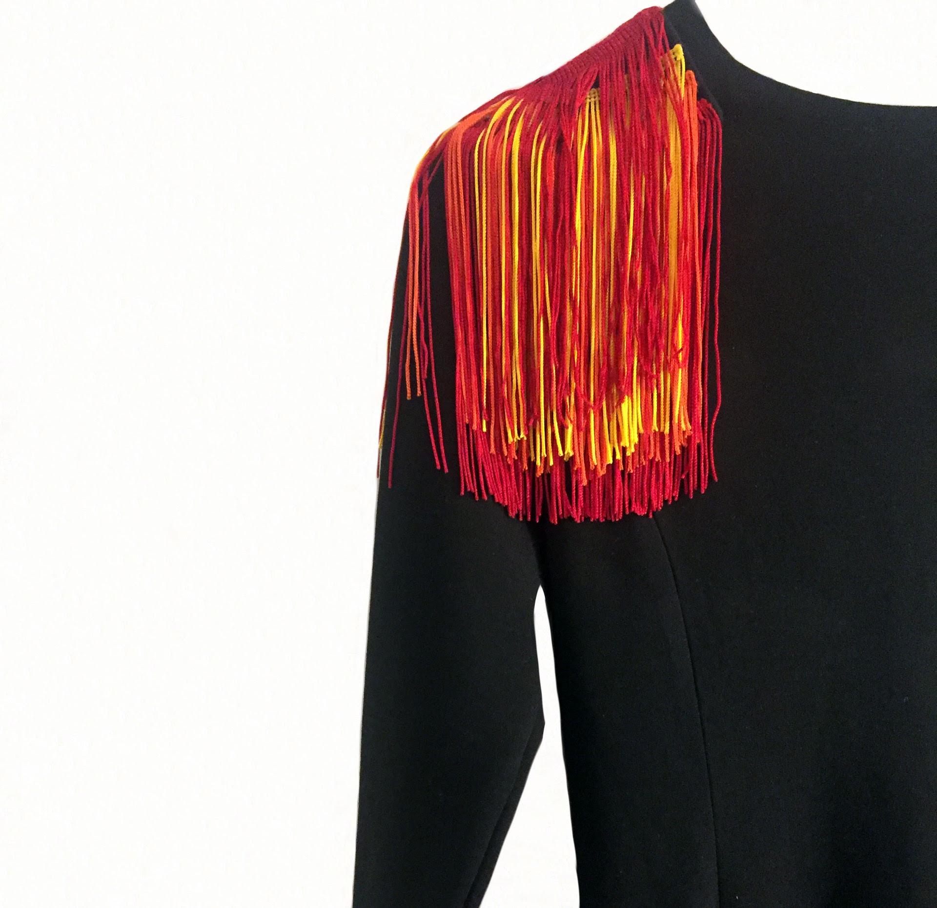 szycie ozdoba frędzelki igla szyje sukienka papuga iglawpodrozy