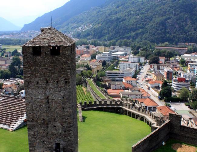 zamek Castelgrande Bellinzona iglawpodrozy