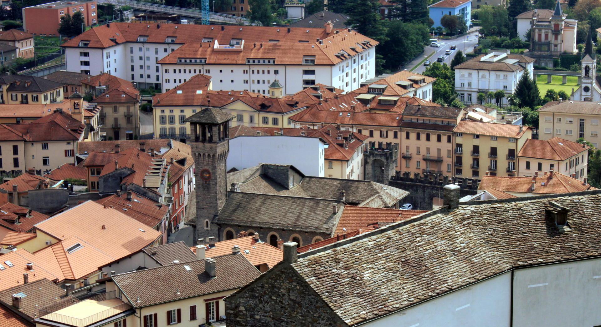 widok na miasto: Bellinzona iglawpodrozy