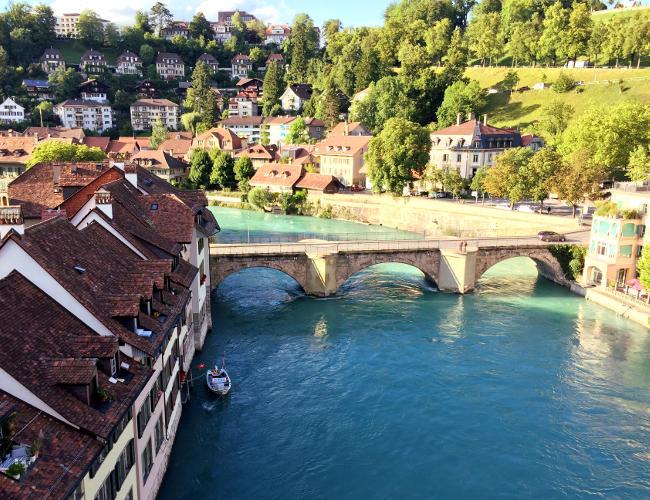 szwajcaria berno bern rzeka aare staremiasto stolica iglawpodrozy