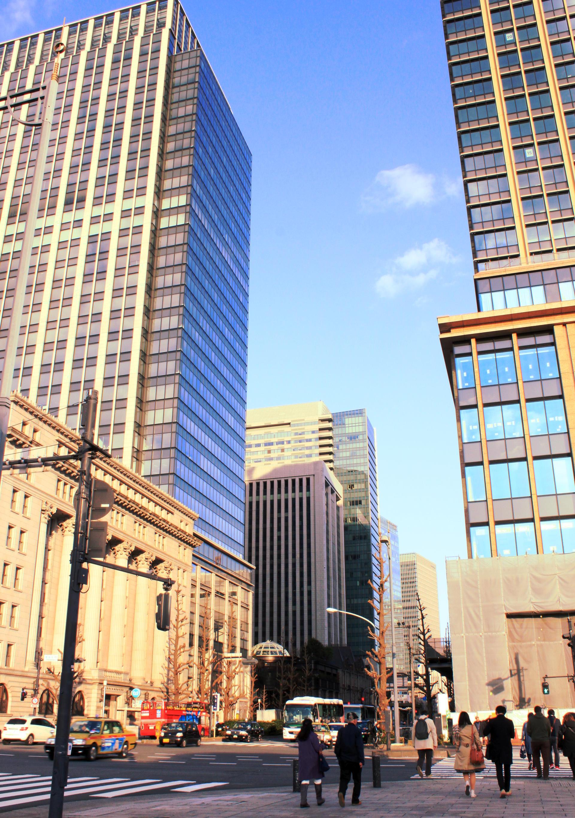 dzielnica Chiyoda Tokio wieżowce ulice iglawpodrozy