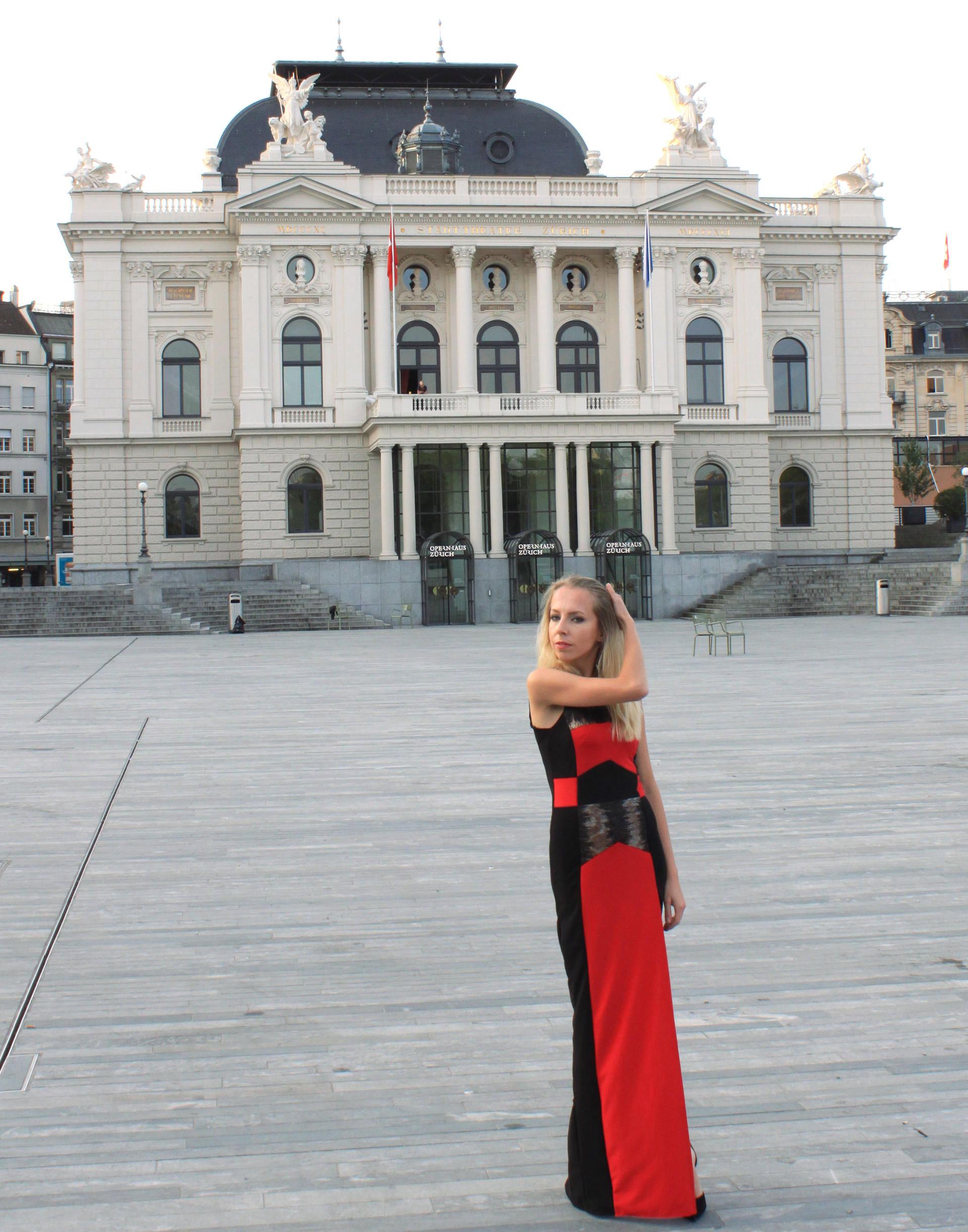 szwajcaria zurych zurich opera długa suknia elegancka igla nosi iglawpodrozy
