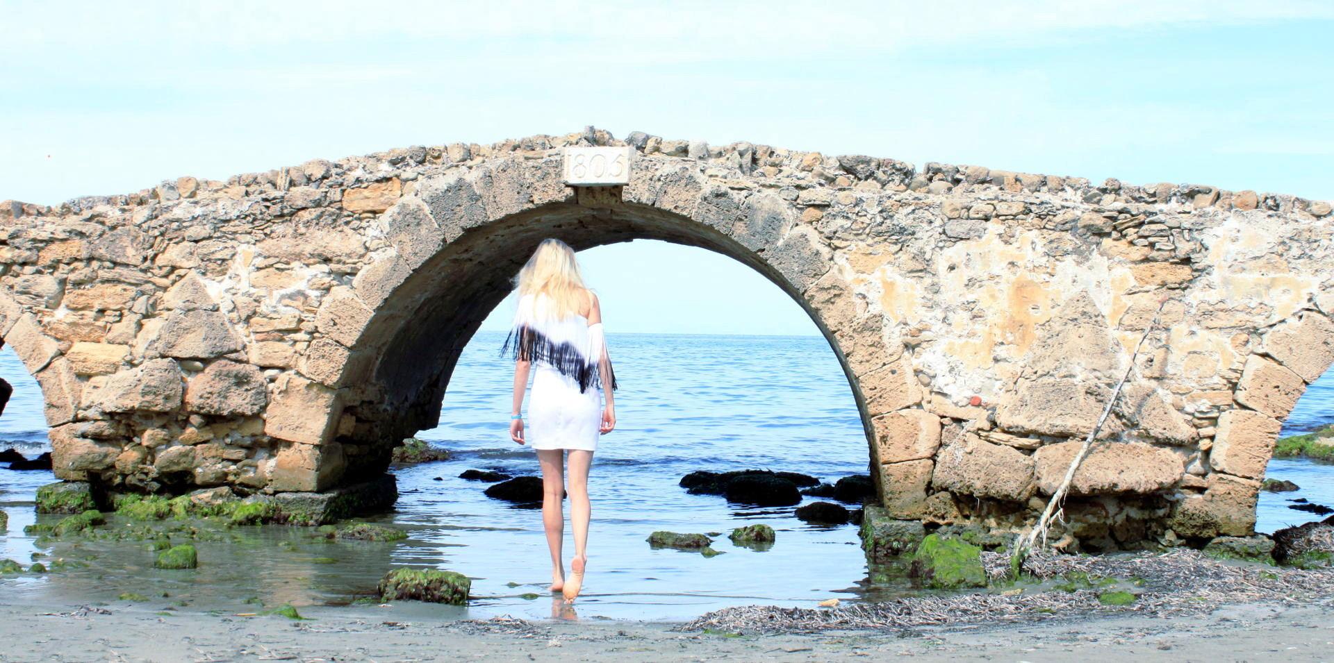 zakynthos argassi plaza morze sukienka jedno ramię design by iglawpodrozy iglanosi