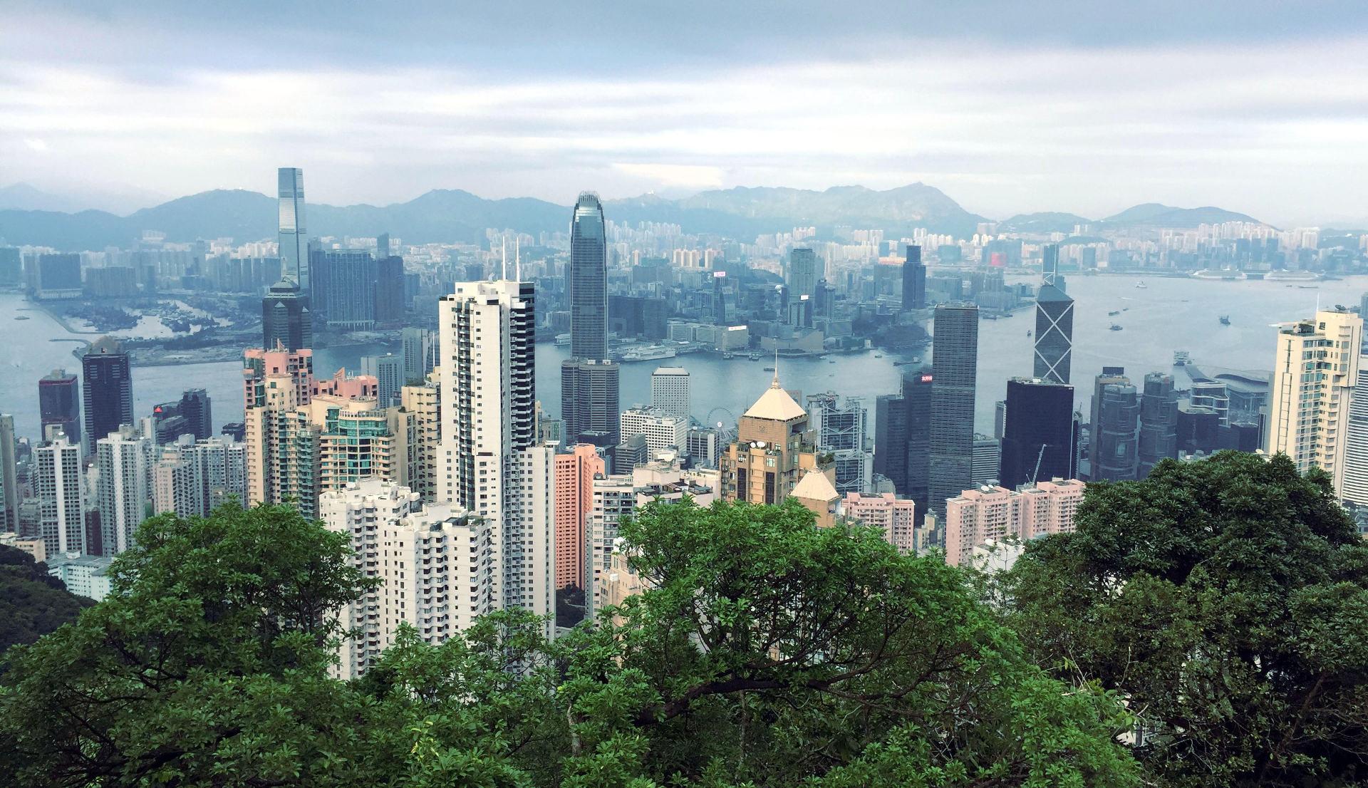 hongkong wiezowce widok peek wzgorze wiktorii iglawpodrozy