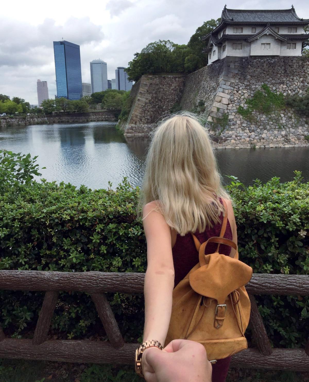 widok zamek osaka iglawpodrozy