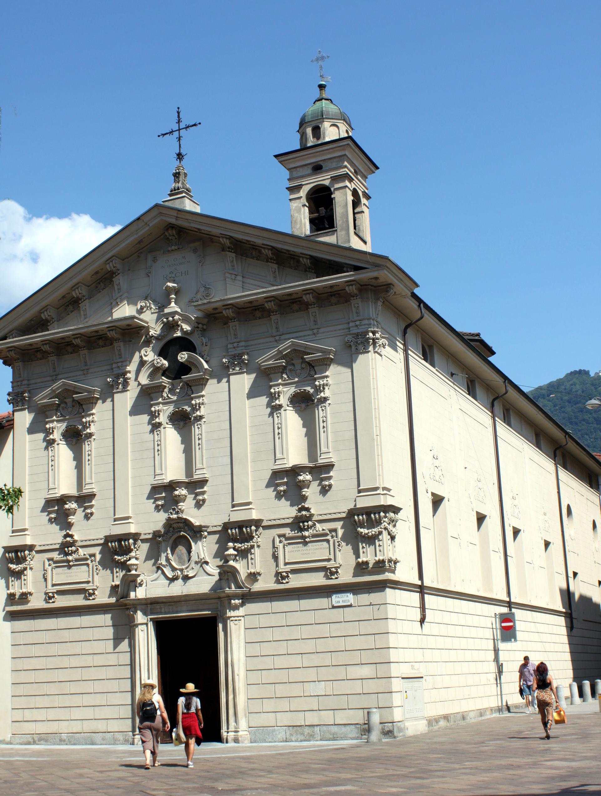 szwajcaria lugano kosciolswrocha chiesasanroccolugano zwiedzanielugano zabytkilugano iglawpodrozy