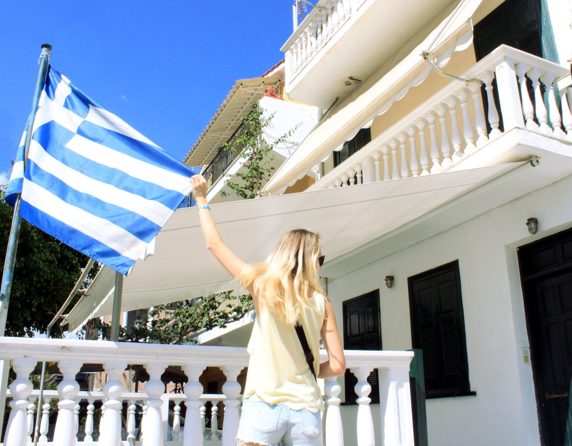 flaga grecji zakynthos iglawpodrozy