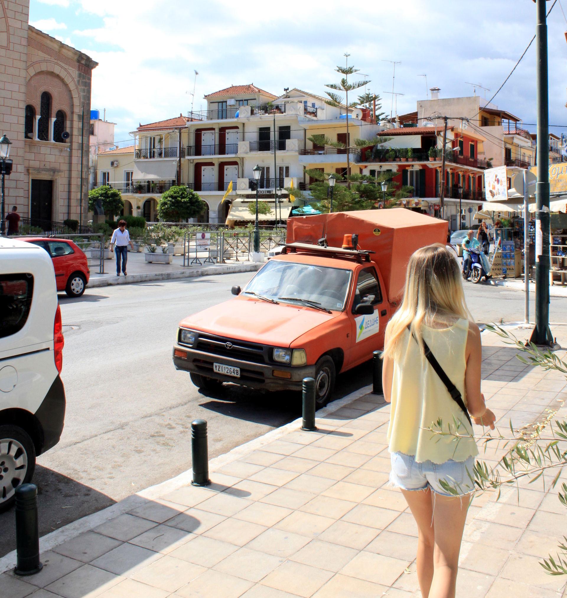 grecja miasto zakynthos ulice iglawpodrozy
