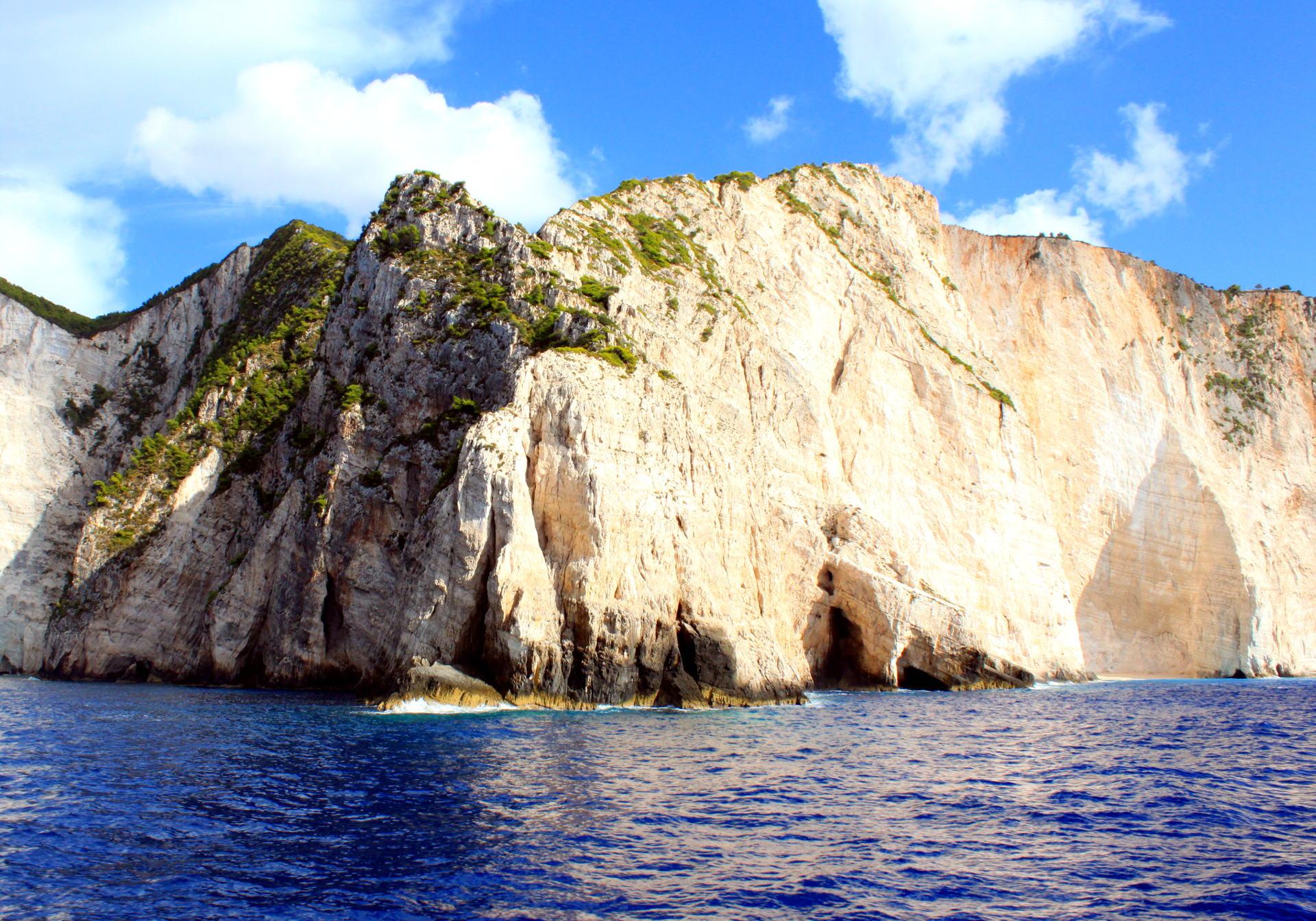 grecja zakynthos zatokawraku navagiobeach skaly morze iglawpodrozy