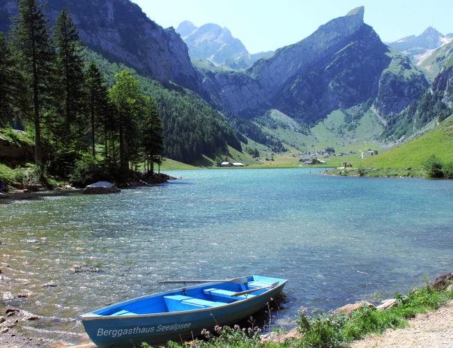 szwajcaria alpy seealpsee natura jezioro widok iglawpodrozy