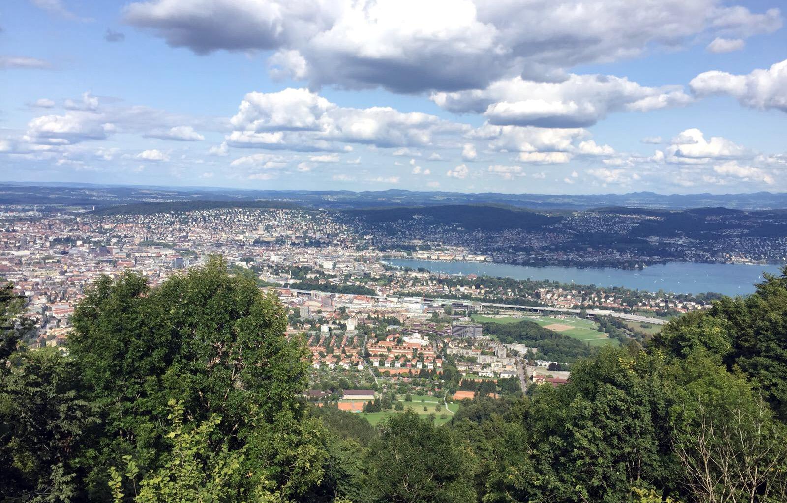 szwajcaria widok na zurych iglawpodrozy