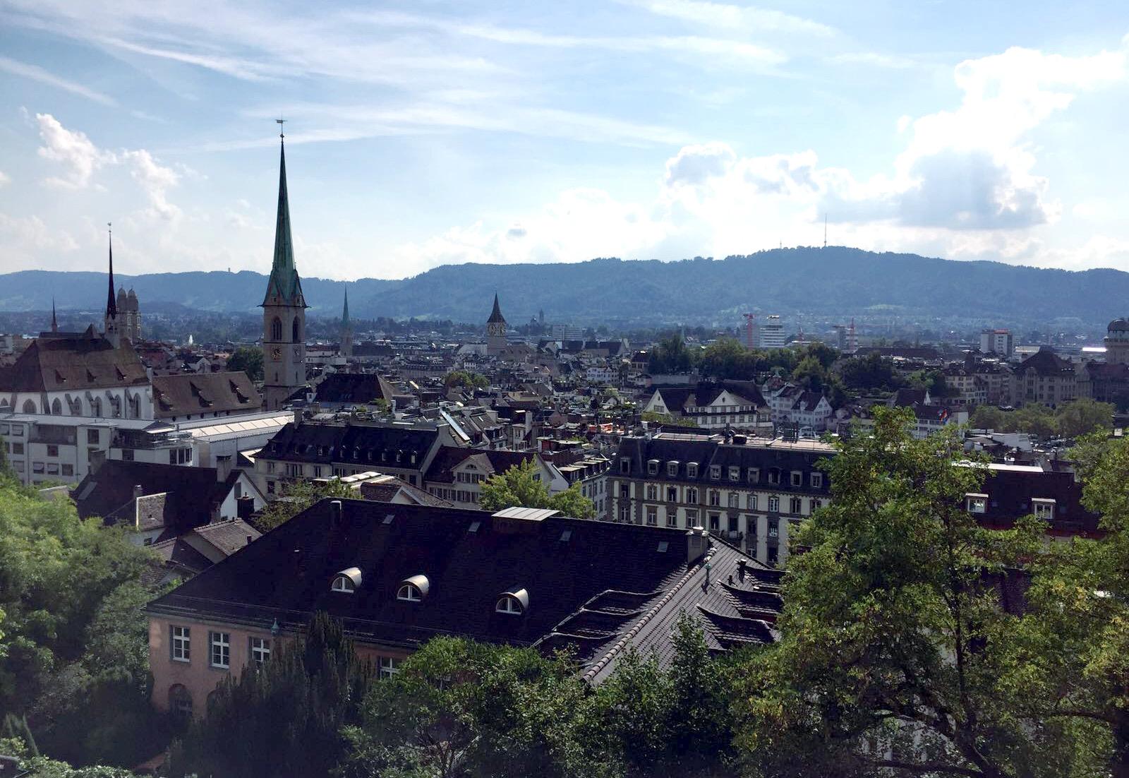 szwajcaria zurych widok miasta iglawpodrozy