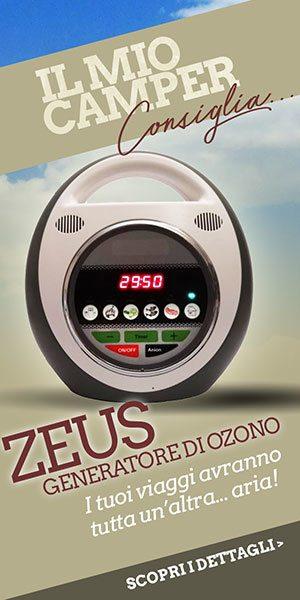 Zeus Generatore di Ozono, per purifcare l'aria del tuo camper
