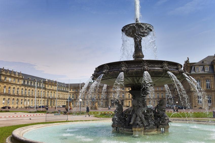 Stuttgart Brunnen am Schlossplatz