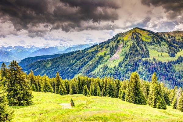 Bergpanorama im Allgäu