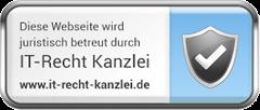 Juristisch betreut durch ITRecht Kanzlei_logo