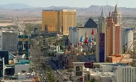 Porzione della skyline della Las Vegas